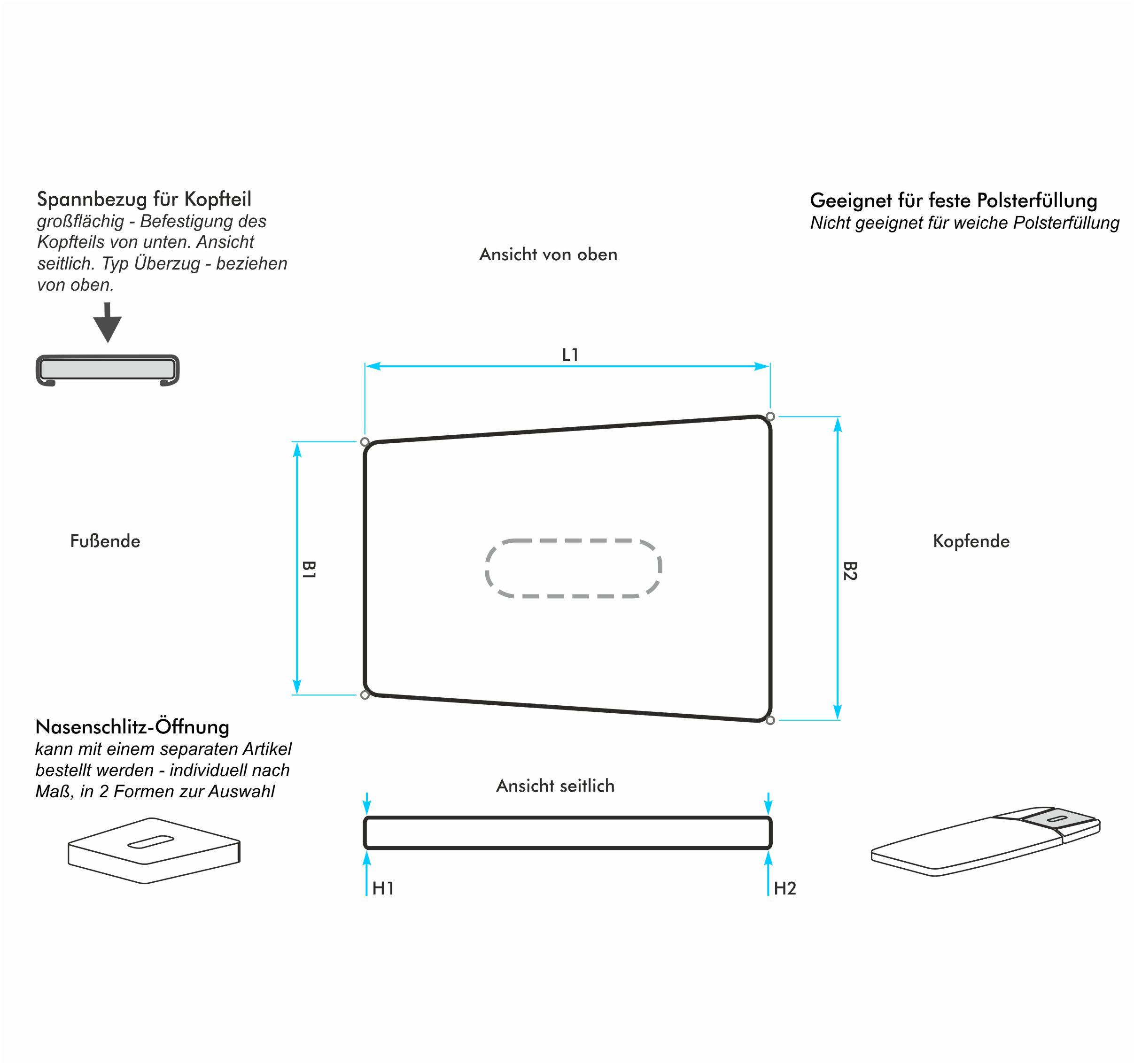 bezug nach ma f r ein trapezf rmiges kopfteil einer wellnessliege typ berzug harti frottiermoden. Black Bedroom Furniture Sets. Home Design Ideas