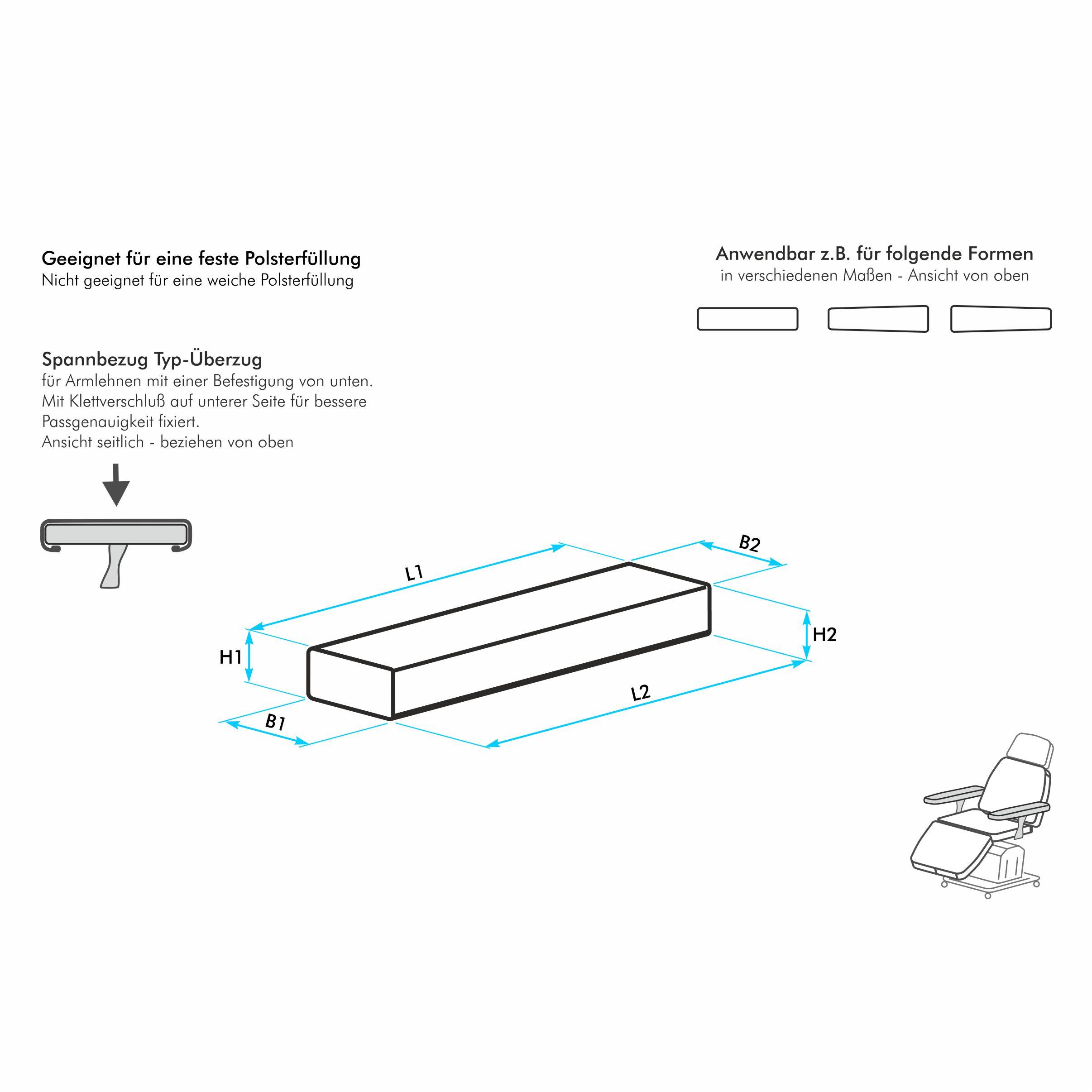 armlehnenbezug nach ma f r eine schmale armlehne mit deutlich ausgepr gten ecken typ berzug. Black Bedroom Furniture Sets. Home Design Ideas
