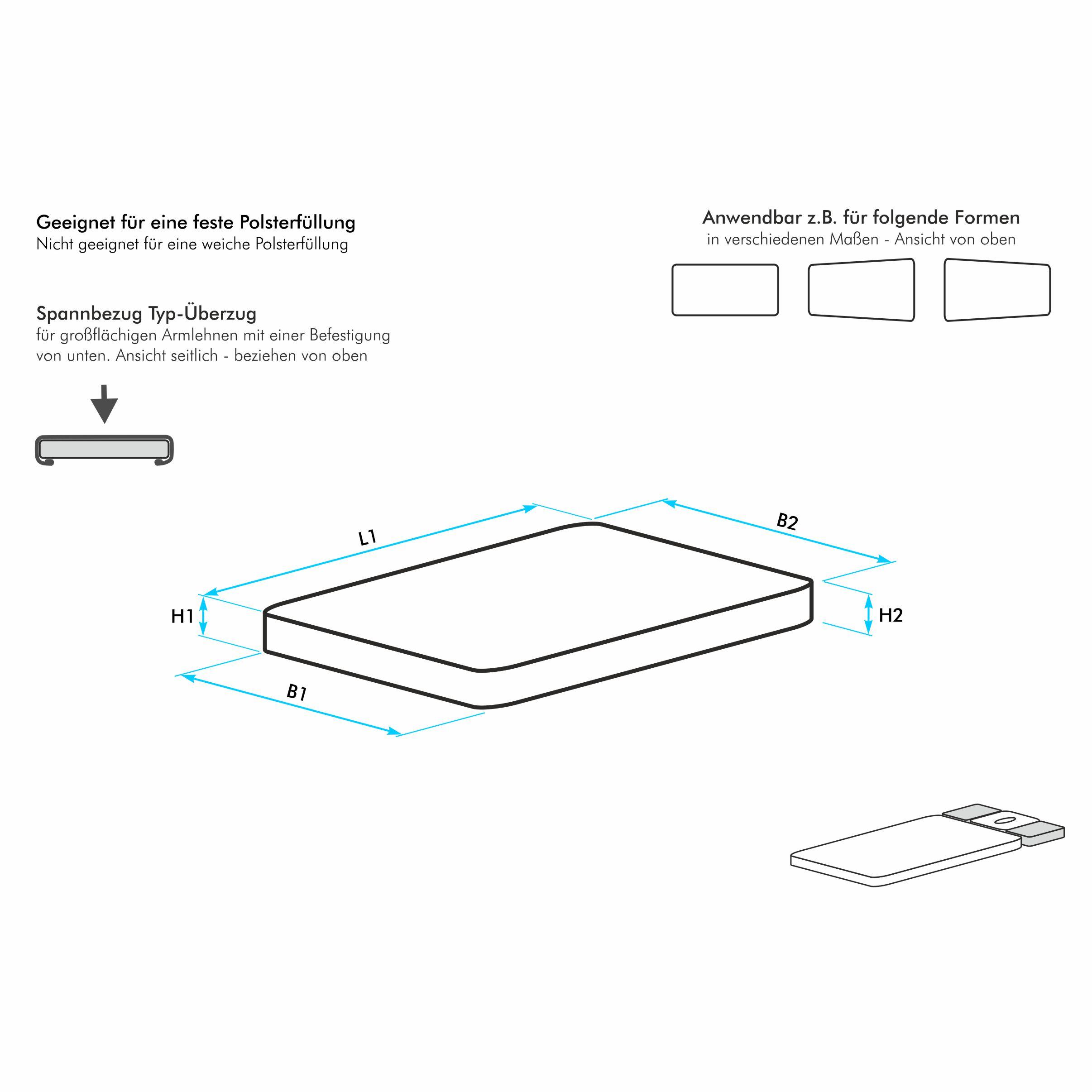 armlehnenbezug f r eine 4 eckige gro fl chige armlehne mit leicht abgerundeten ecken harti. Black Bedroom Furniture Sets. Home Design Ideas