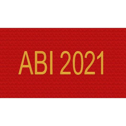 ABI 2021 - Stickmotiv zum Abitur - Abihandtuch als Geschenk