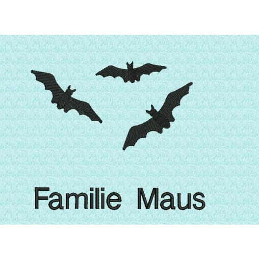 Fledermaus-Familie mit Name