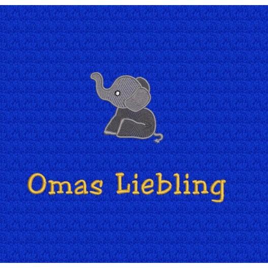 Kleiner Elefant mit Text