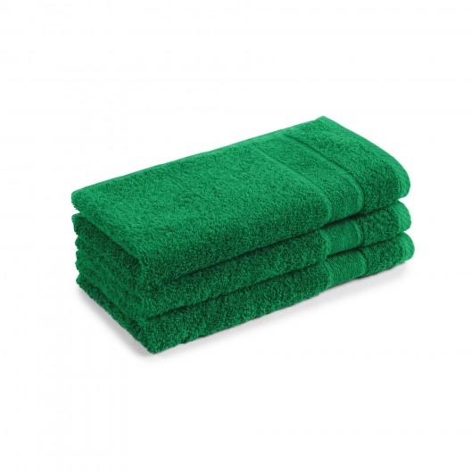 30x50 cm harti PromoLineFarbe smaragd, Stapel aus 3 Tüchern