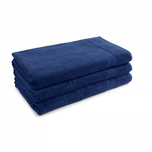 100x220 cm harti PromoLine Farbe nachtblau, Stapel aus 3 Tüchern
