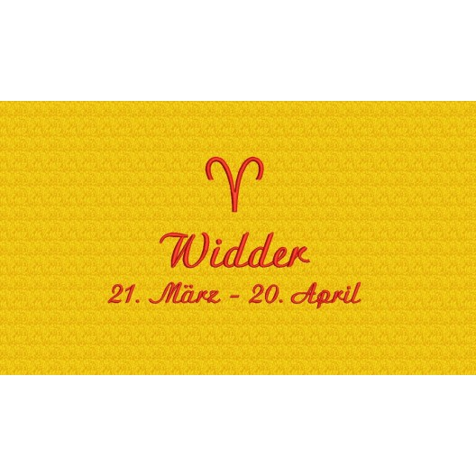 Widder (21. März - 20. April)
