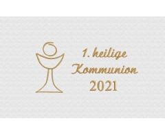 Stickerei zur 1. heiligen Kommunion