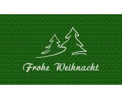 Frohe Weihnacht - weiß auf grün