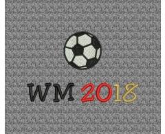 Fußball - WM 2018 in Farben schwarz-rot-gold