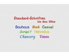 Standard-Schriften bis ca. 2 cm hoch