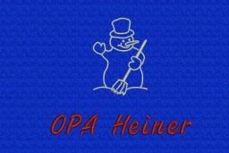 Schneemann + OPA Heiner in Schriftart Book