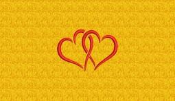 Stickmotiv Verschlungene Herzen - klein
