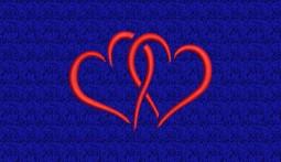 Stickmotiv Verschlungene Herzen - groß