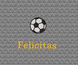 Fußball und individueller Name - Stickerei