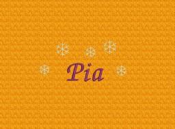 Schneekristalle + Name Pia - Schriftart Chancery