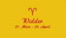 Widder (21. März - 20. April)