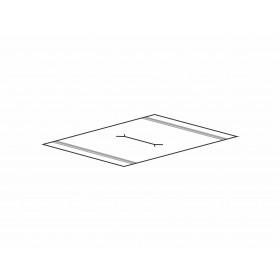 Nasenschlitz für kleines Tuch, ca. 14 cm lang - mittig-mittig im Tuch