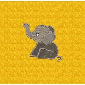Kleiner Elefant - Stickerei-Motiv für Kinder