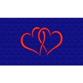 Verschlungene Herzen - Edle Stickerei ca. 9x6 cm