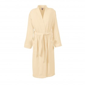 Bademantel Größe XL in Farbe natur für Damen und Herren, Kimonoschnitt, harti ProfiLine®
