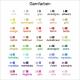 Garnfarben für Schrift