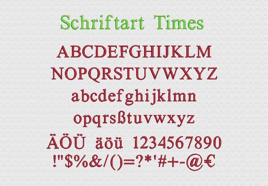 Schriftart Times